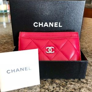 Chanel Quilted Credit Card Holder